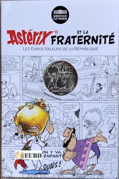 10 euro Frankrijk 2015 - Asterix fraternité Olympische Spelen - in coincard