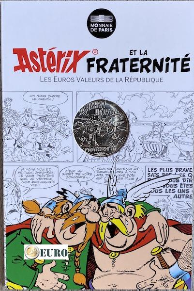 10 euro Frankrijk 2015 - Asterix fraternité en de Belgen - in coincard