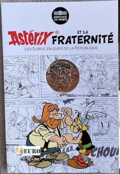 10 euro Frankrijk 2015 - Asterix fraternité en de Helvetiërs - in coincard