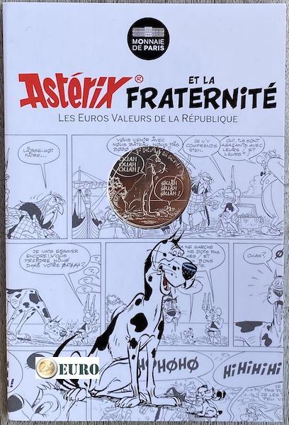 10 euro Frankrijk 2015 - Asterix fraternité De grote oversteek - in coincard