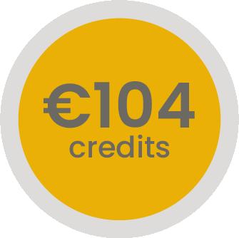 104 euro op je klantenrekening (-3,8%)