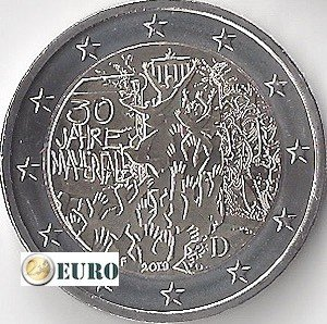 2 euro Germany 2019 - F Berlin Wall UNC
