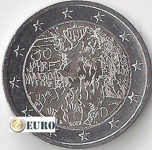 2 euro Duitsland 2019 - A Berlijnse Muur UNC