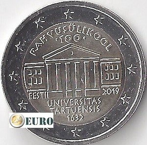 2 euro Estland 2019 - Universiteit Tartu UNC