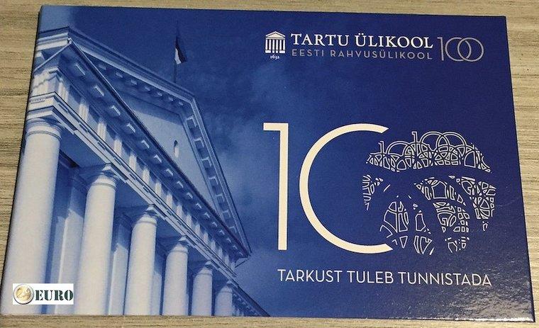 2 euro Estland 2019 - Universiteit Tartu BU FDC Coincard