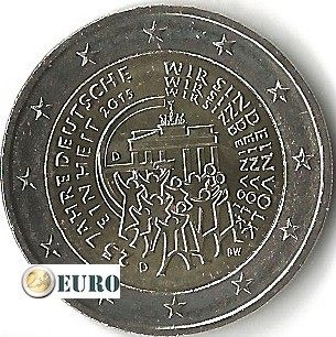 2 euro Duitsland 2015 - D Duitse Eenmaking UNC
