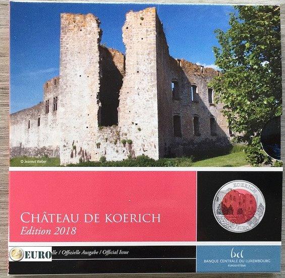 5 euro Luxemburg 2018 - Kasteel Koerich BE Proof