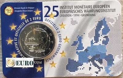 2 euro Belgium 2019 - 25 years EMI BU FDC Coincard FR