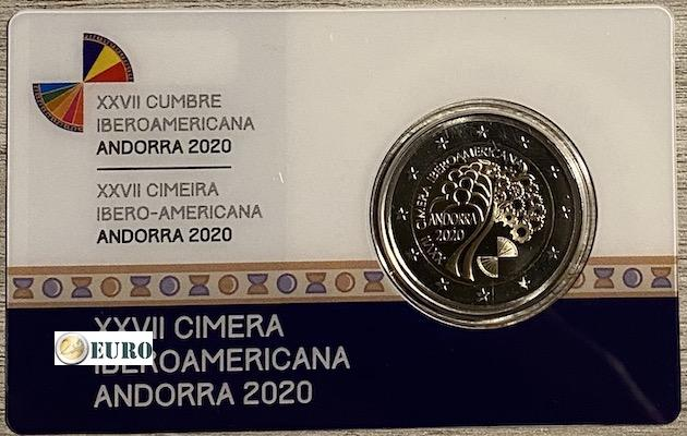 2 euros Andorre 2020 - Sommet Ibéro-Américain BE Proof