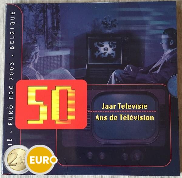 Euro set BU FDC België 2003 50 jaar Televisie