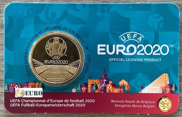 2,50 euro Belgie 2021 - EK UEFA EURO 2020 BU FDC Coincard FR