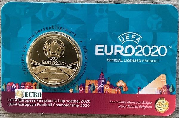 2,50 euro Belgie 2021 - EK UEFA EURO 2020 BU FDC Coincard NL