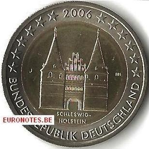 Duitsland 2006 - 2 euro J Schleswig-Holstein UNC