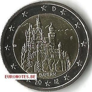 Duitsland 2012 - 2 euro F Beieren UNC