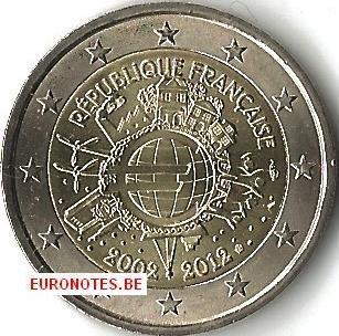 Frankrijk 2012 - 2 euro 10 jaar euro UNC