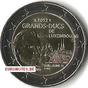 Luxemburg 2012 - 2 euro Groothertog Henri en Willem UNC