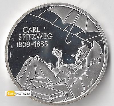 Allemagne 2008 - 10 euros D Carl Spitzweg BU FDC