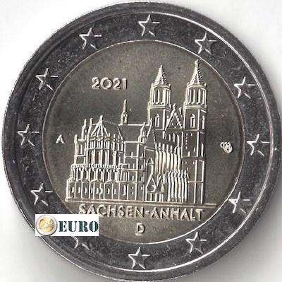 2 euro Duitsland 2021 - A Sachsen-Anhalt UNC