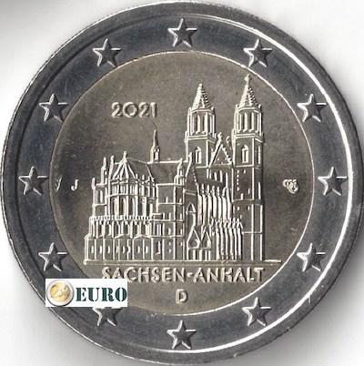 2 euro Duitsland 2021 - J Sachsen-Anhalt UNC