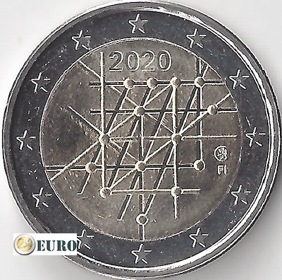 2 euros Finlande 2020 - Université de Turku UNC
