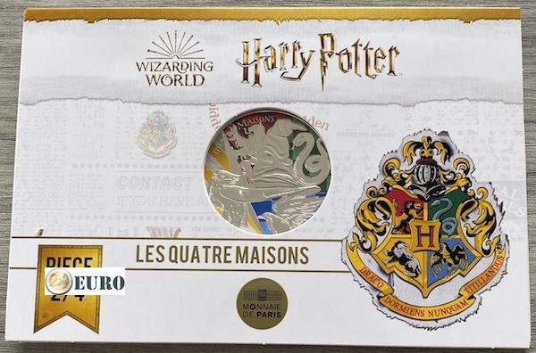 50 euro Frankrijk 2021 - Harry Potter Afdelingen Zweinstein BE Proof zilver gekleurd