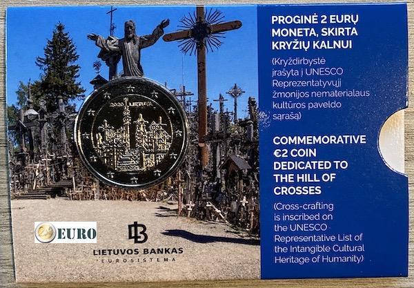 2 euro Litouwen 2020 - Heuvel der Kruisen BU FDC Coincard