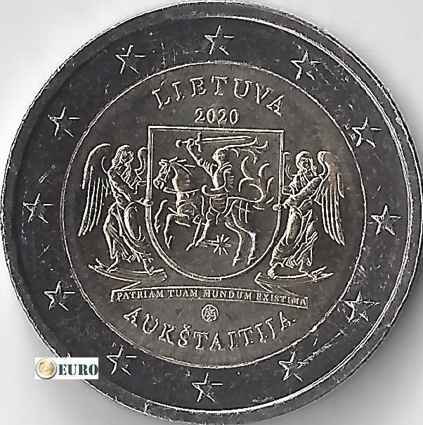 2 euro Litouwen 2020 - Aukstaitija Regio UNC