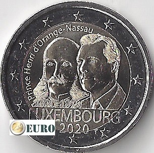2 euro Luxembourg 2020 - Henry of the Netherlands UNC