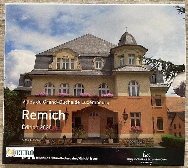 Euro set BU FDC Luxembourg 2020 Remich + 2 euro Henry