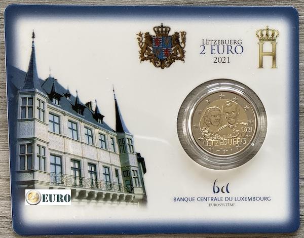 2 euro Luxembourg 2021 - 40 years wedding Henri BU FDC Coincard