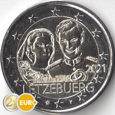 2 euro Luxembourg 2021 - 40 years wedding Henri UNC