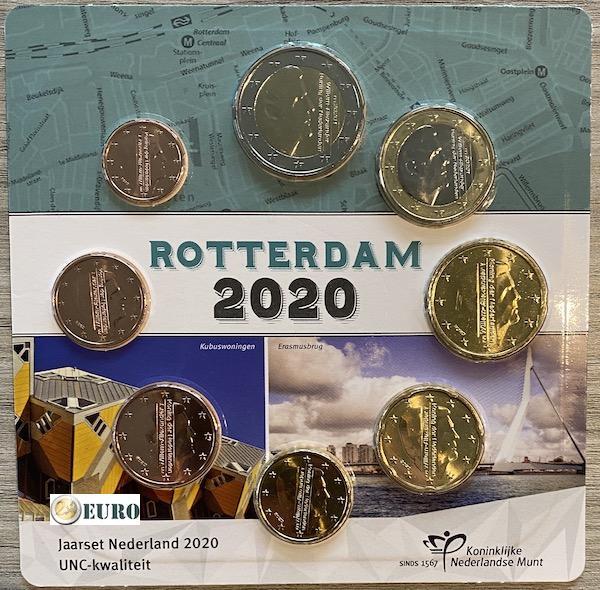 Série euro UNC Pays-Bas 2020 Rotterdam