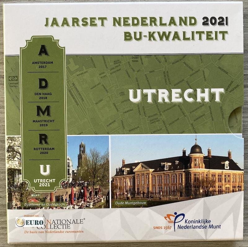 Euro set BU FDC Nederland 2021 Utrecht