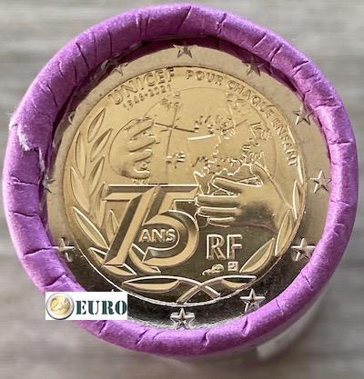 Rouleau 2 euros France 2021 - 75 ans UNICEF