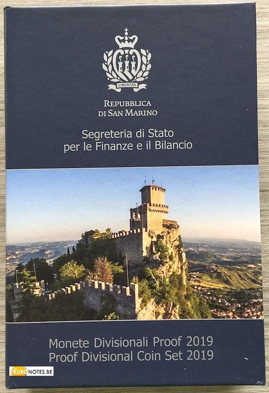 San Marino 2019 - Euro set BE Proof + 2 x 2 euro commemorative