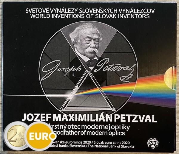 Euro set BU FDC Slowakije 2020 - Jozef Maximilian Petzval