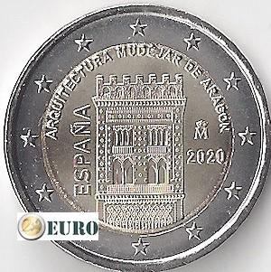 2 euros Espagne 2020 - Mudéjar Aragon UNC