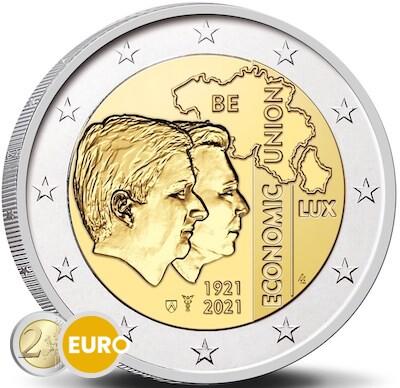 2 euro Belgie 2021 - 100 jaar BLEU UNC