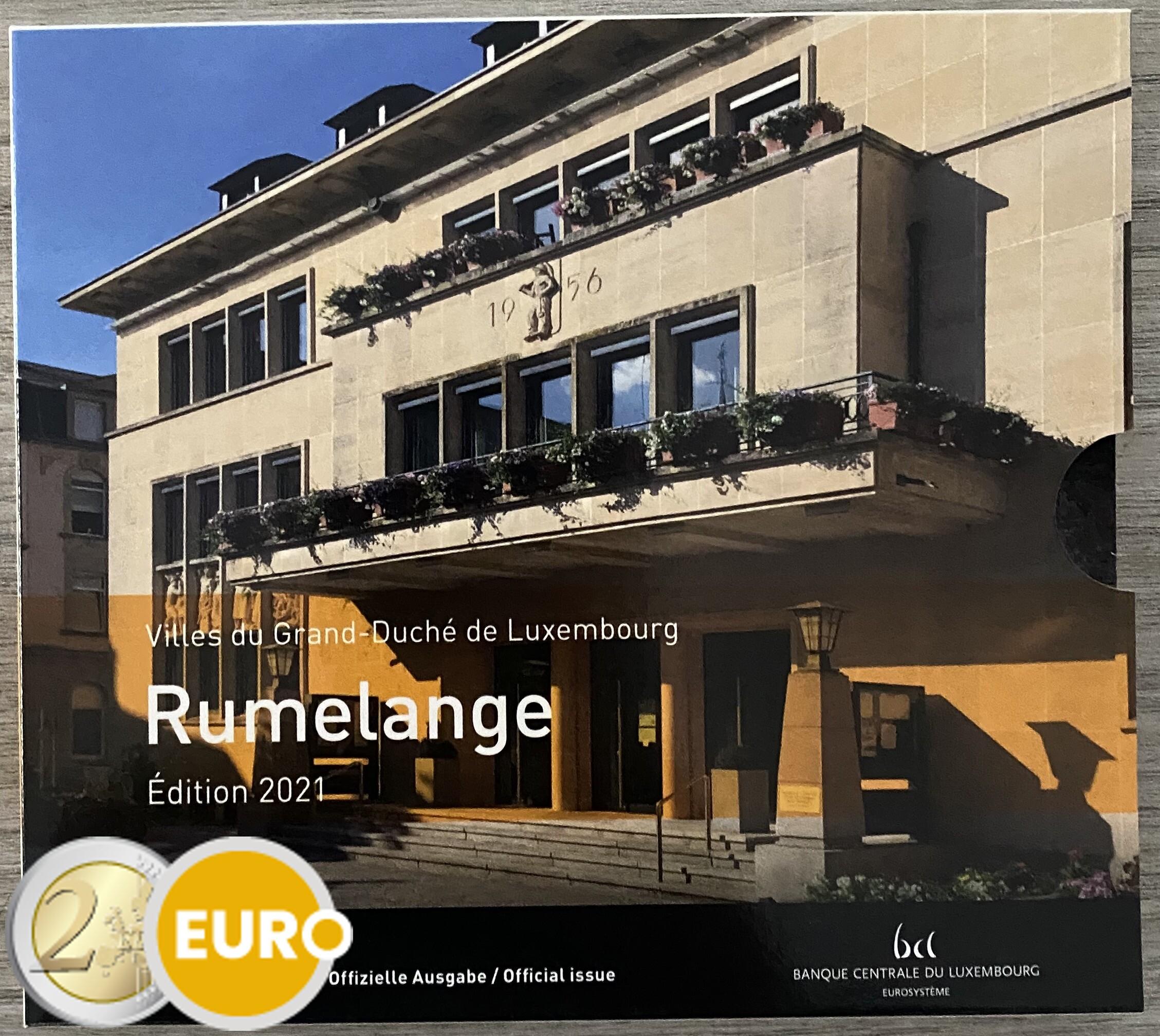 Euro set BU FDC Luxembourg 2021 Rumelange + 2 euro Birth Jean photo