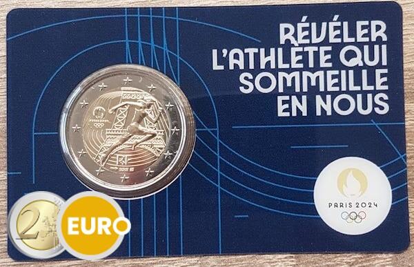 2 euro Frankrijk 2021 - Overhandiging Olympische vlag BU FDC Coincard