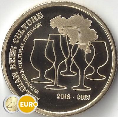 2,50 euro Belgie 2021 - Biercultuur 5 jaar erfgoed bier UNC