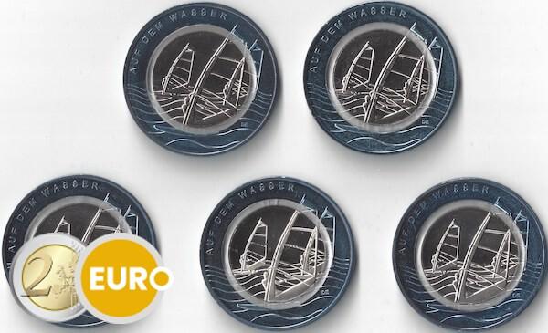 10 euro Duitsland 2021 - Op het Water ADFGJ UNC