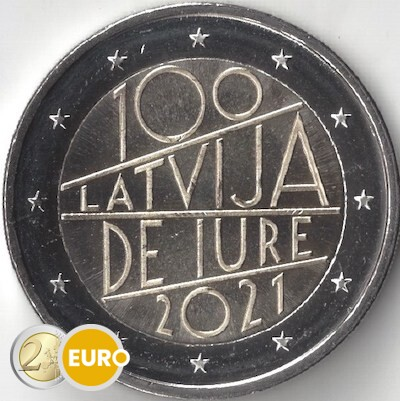 2 euro Letland 2021 - Internationale erkenning UNC